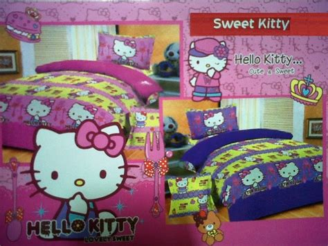 Kain Cvc Hello sprei dan bed cover motif hello nafha shop collection