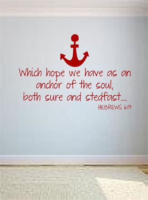 tattoo bible verse kjv which hope we have as an anchor wall decal hebrews 6 19