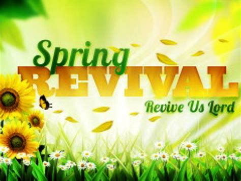 Spring Revival Flyer Template