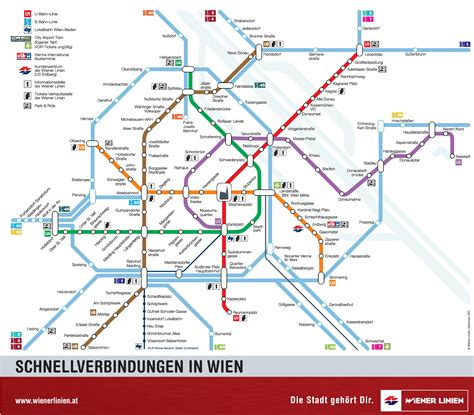map of the s vienna u bahn and s bahn map