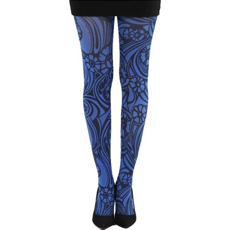 patterned tights blue patterned tights blue varrick costumes cosplay