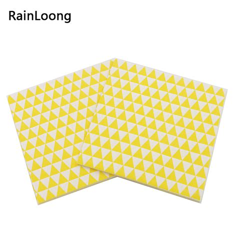Napkin Tissue Decoupage 33 rainloong triangle paper napkin geometry event