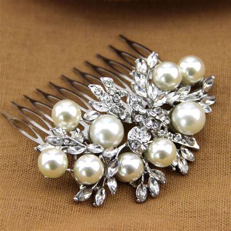 Vintage Bridal Pearl Hair Comb by Vintage Inspired Pearl Bridal Hair Comb 2368402