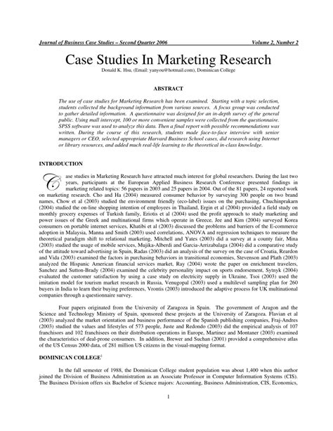 Marketing Research Pdf For Mba by Studies In Marketing Research Pdf Available