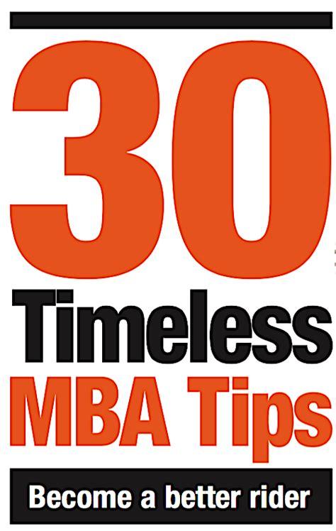 Getting Mba At 30 30 timeless mba tips mountain bike magazine