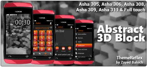 nokia 311 all themes abstract 3d blocks theme for nokia asha 305 306 308 and