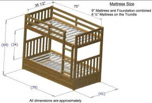 Standard Bunk Bed Mattress Size Discovery World Furniture Merlot Mission Bunk Beds Kfs Stores