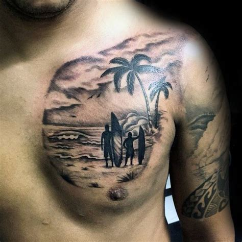 surfing tattoo designs ready to surf chest pinteres