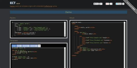 Templates Javascript by 15 Javascript Template Engines For Front End Development