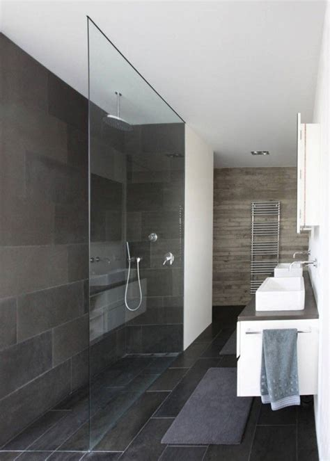 gorgeous slate tile shower for a small bathroom i 35 black slate bathroom wall tiles ideas and pictures