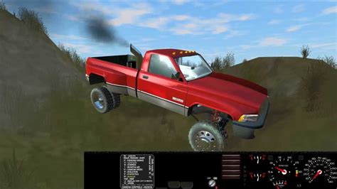 car physics game rigs  rods dodge cummins