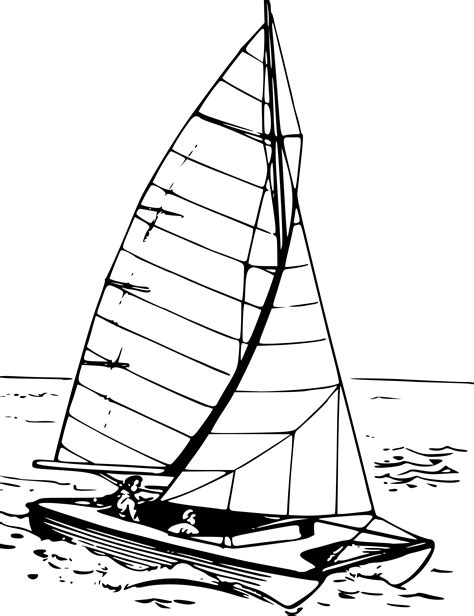 catamaran lines drawing clipart catamaran