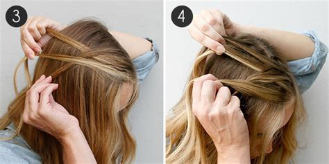 how to do a waterfall braid step by step on shprt hair how to create a waterfall braid that wows more com