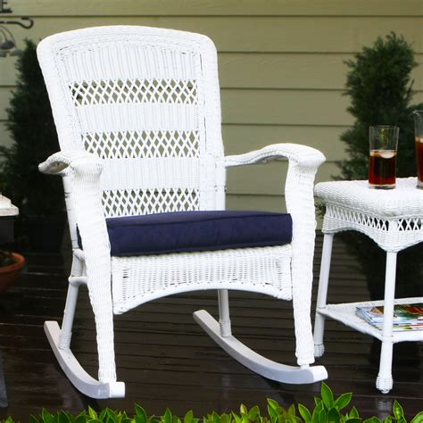 White Patio Chairs by Shop Tortuga Outdoor Portside Coastal White Wicker Patio