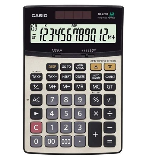Casio Calculator Mj 12d casio check calculator dj 220d buy at best price