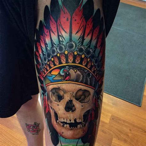 indian skull tattoo indian skull www pixshark images galleries