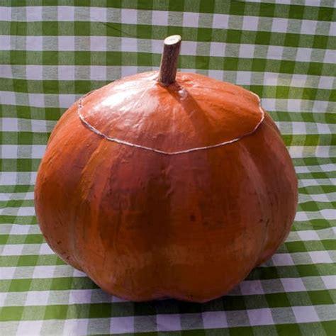 How To Make A Paper Mache Pumpkin - paper mache pumpkin holidays
