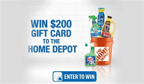 sc johnson home depot sweepstakes us only