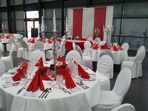 Hochzeitsdeko Weiß Rot by Hochzeitsdekoration In Rot Mieten Deko Point