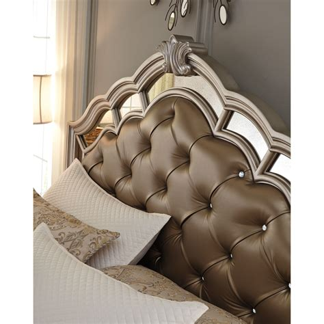 birlanny silver upholstered panel bedroom set b720 57 54 signature design by ashley birlanny king upholstered bed