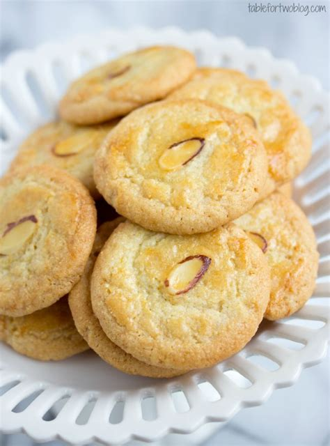 new year almond cookies calories almond crisp cookies from tablefortwoblog