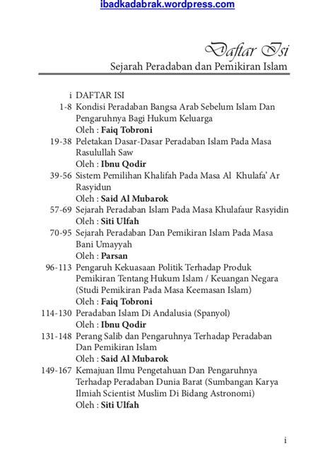 Politik Islam Sejarah Dan Pemikiran Muslim Mufti buku sejarah peradaban dan pemikiran islam kumpulan makalah perkulia