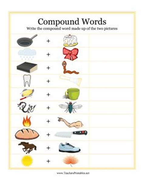 christmas compound words worksheet 17 best images about compound words on pinterest words