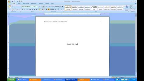 add a cover page microsoft word 2007 computergaga