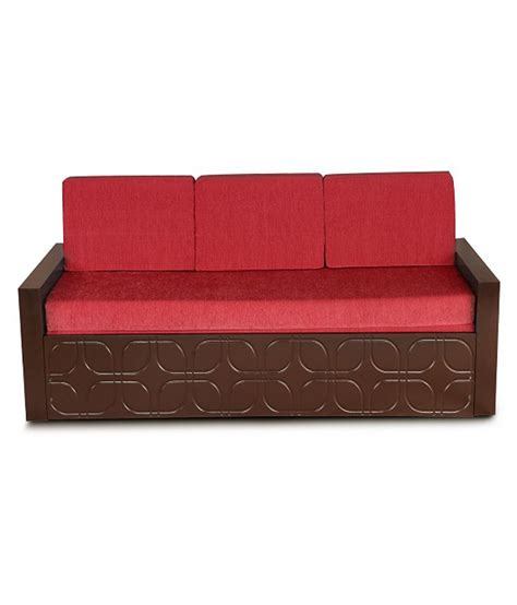 sofa cum bed online shopping india winchester sofa cum bed in red buy online at best price