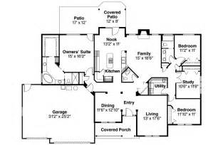 ranch home designs floor plans ranch house plans pleasanton 30 545 associated designs