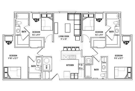 student housing floor plans student housing floor plans numberedtype