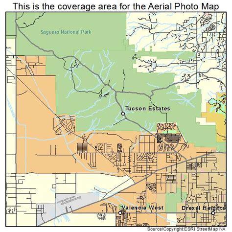 tuscon arizona map aerial photography map of tucson estates az arizona