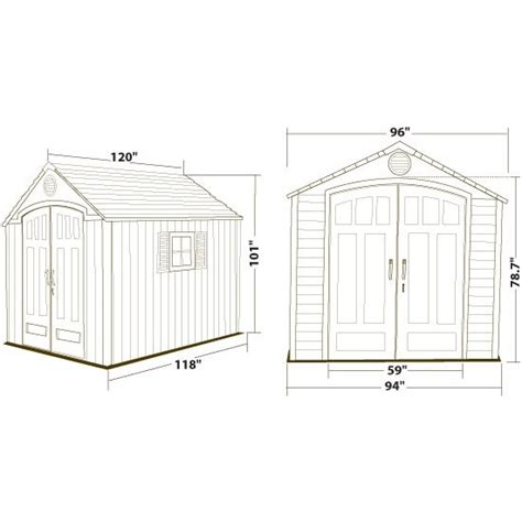 shed diagrams lifetime storage sheds 60085 plastic outdoor shed 8x10