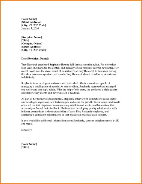 Reference Letter Writer sle thank you for letter of recommendation best