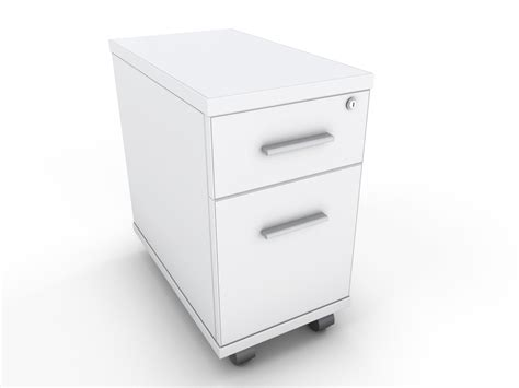 narrow desk mobile drawer unit 300mm wide x 520mm