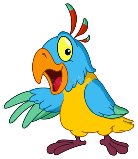 download film kartun time quest presentera f 246 r papegoja vektor illustrationer
