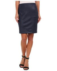 navy leather pencil skirt faux leather pencil