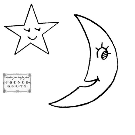 pattern moon drawing star line drawing cliparts co