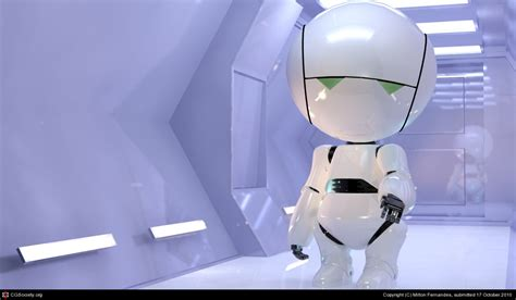 marvin the paranoid android marvin the paranoid android by milton fernandes 3d cgsociety