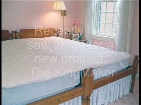putting two twin beds together the sleep shop tests the king maker twin bed coupler youtube