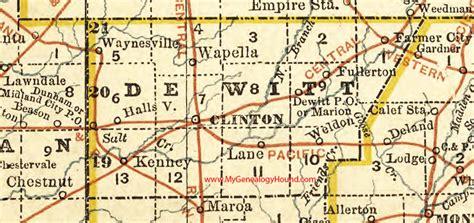 dewitt county map dewitt county illinois 1881 map clinton