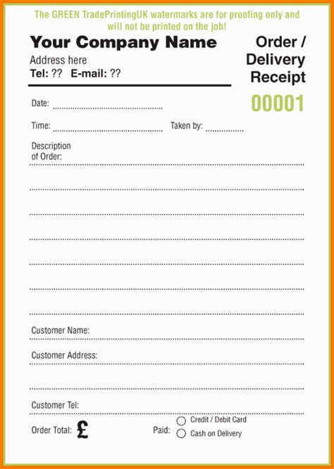 food order template 7 food order form template word financial statement form