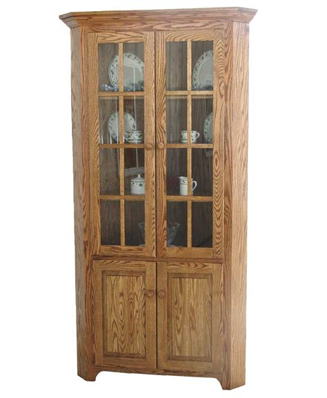 Shaker Corner Cabinet   Amish Direct Furniture