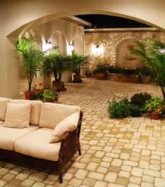 Different Types Of Vases Hacienda Courtyard At Flintrock Lakeway Texas