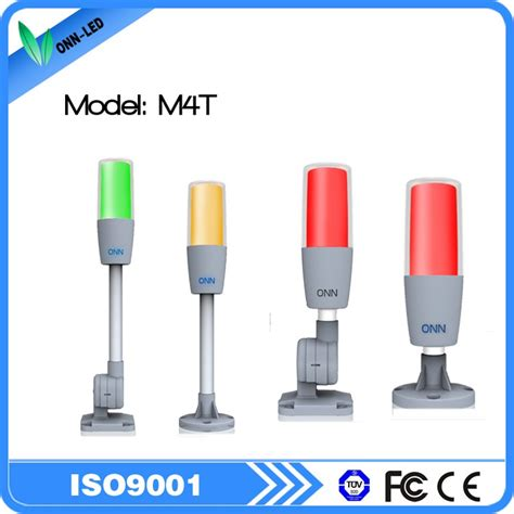 tower light with buzzer multicolor led signal tower light with red flashing and