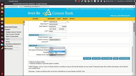 How To Make Online Money Transfer - how to transfer money in canara bank netbanking to other bank accounts neft imps