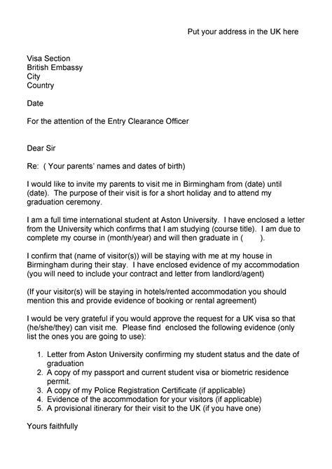 invitation letters visa general templatelab