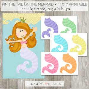 Pin The On The Mermaid Template by Pin The On The Mermaid Instant Printable