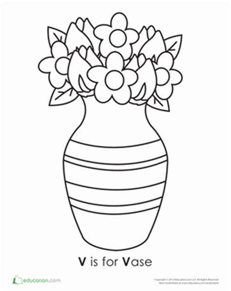 letter v coloring pages preschool letter v worksheet education com