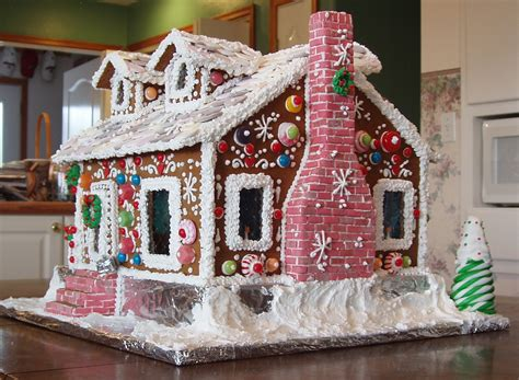 pattern gingerbread house creative use of candy and colors on this victorian
